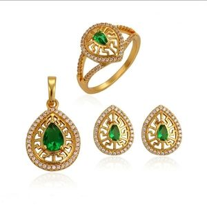 Fashion gold 3in 1 jewelry set